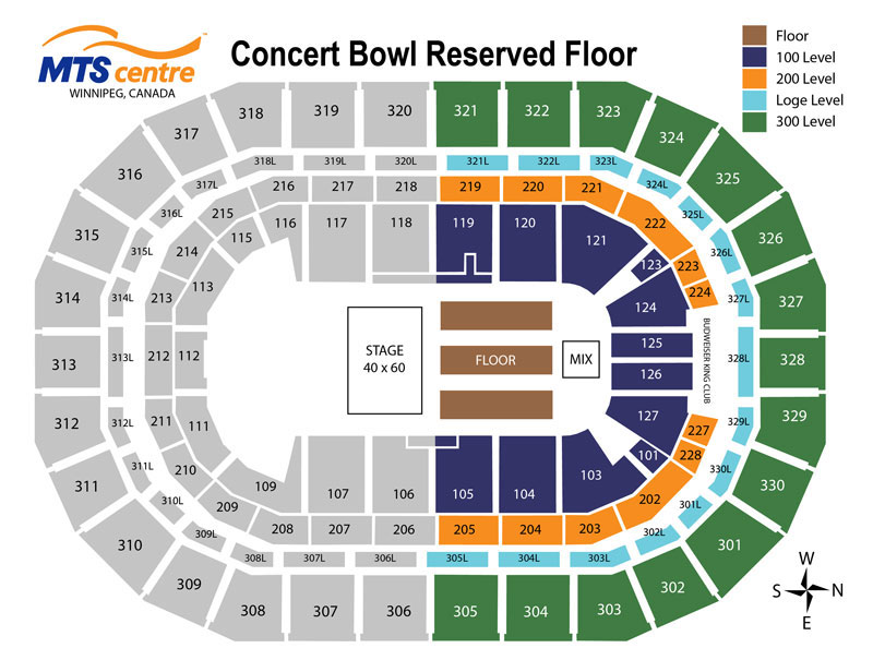 MTS Centre - 180 Reserved Floor Map