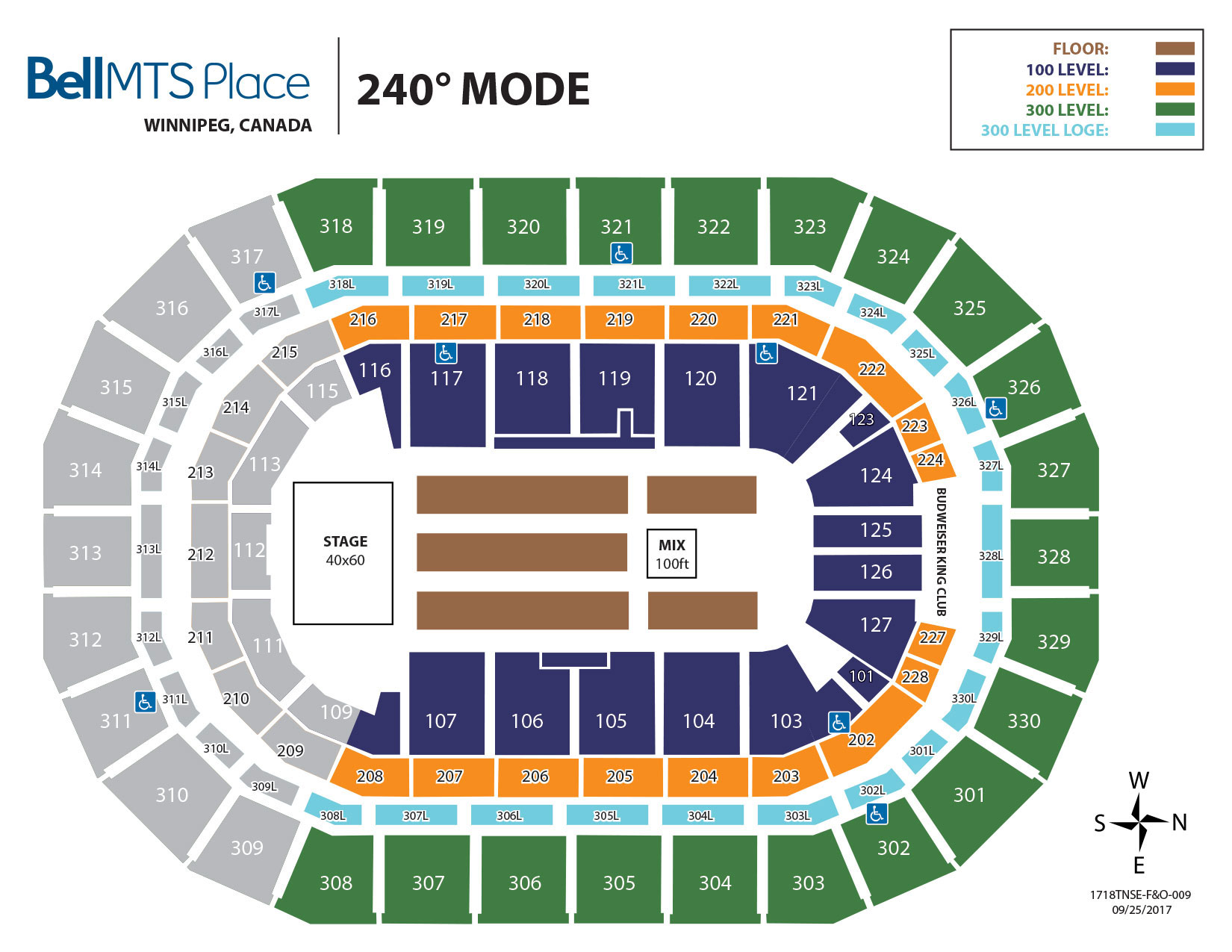 Bell MTS Place - 240 Mode Seating