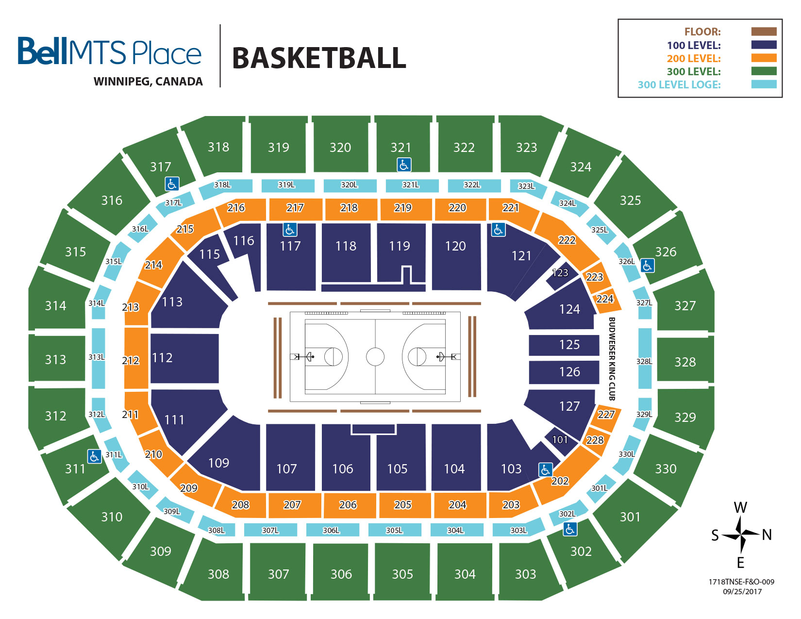 Bell MTS Place - Basketball Seating