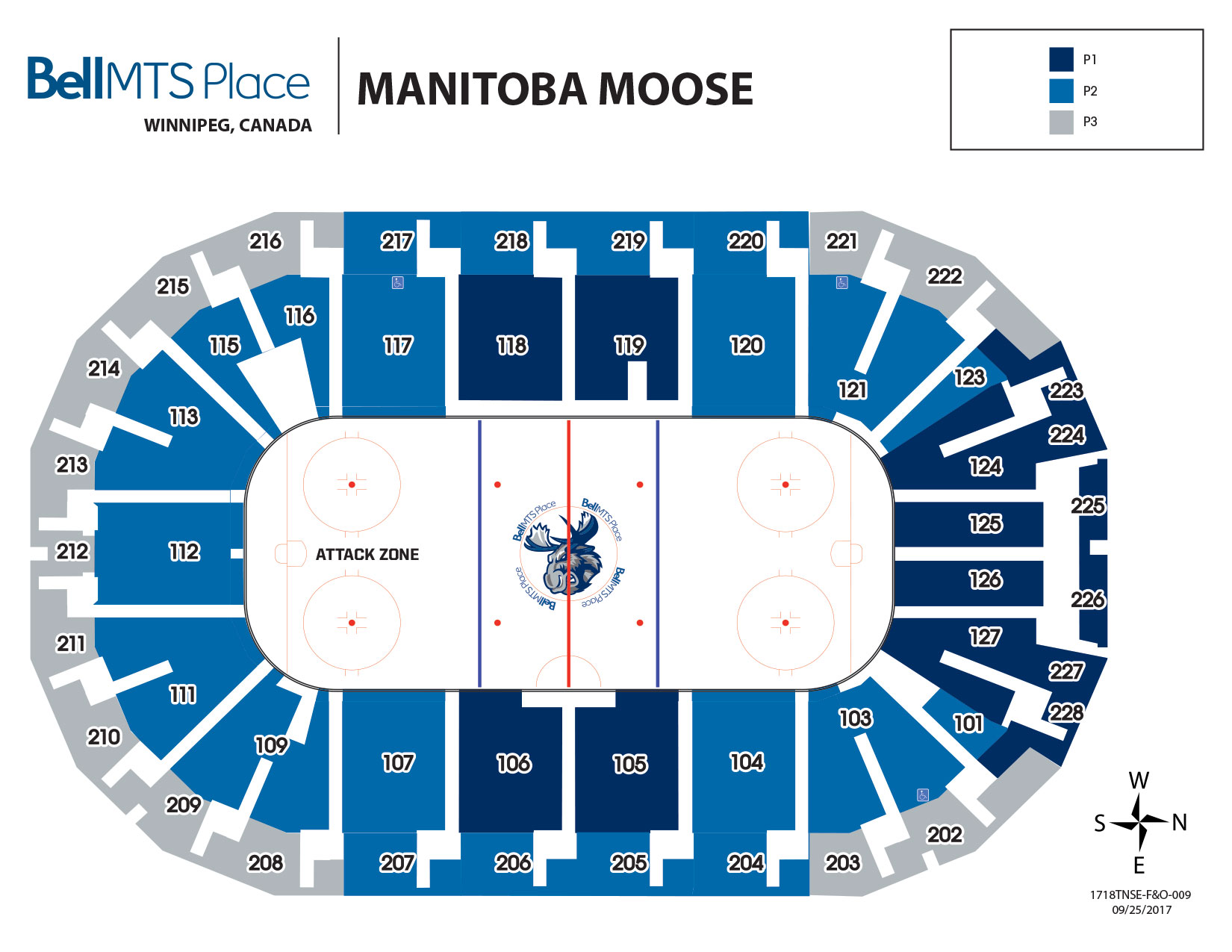 Bell MTS Place - Manitoba Moose Seating