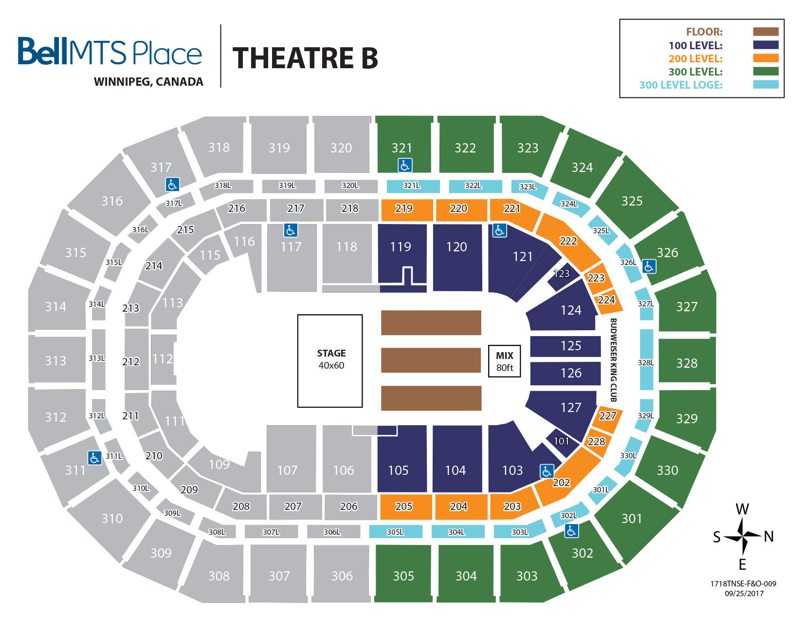 Bell MTS Place - Theatre B Seating