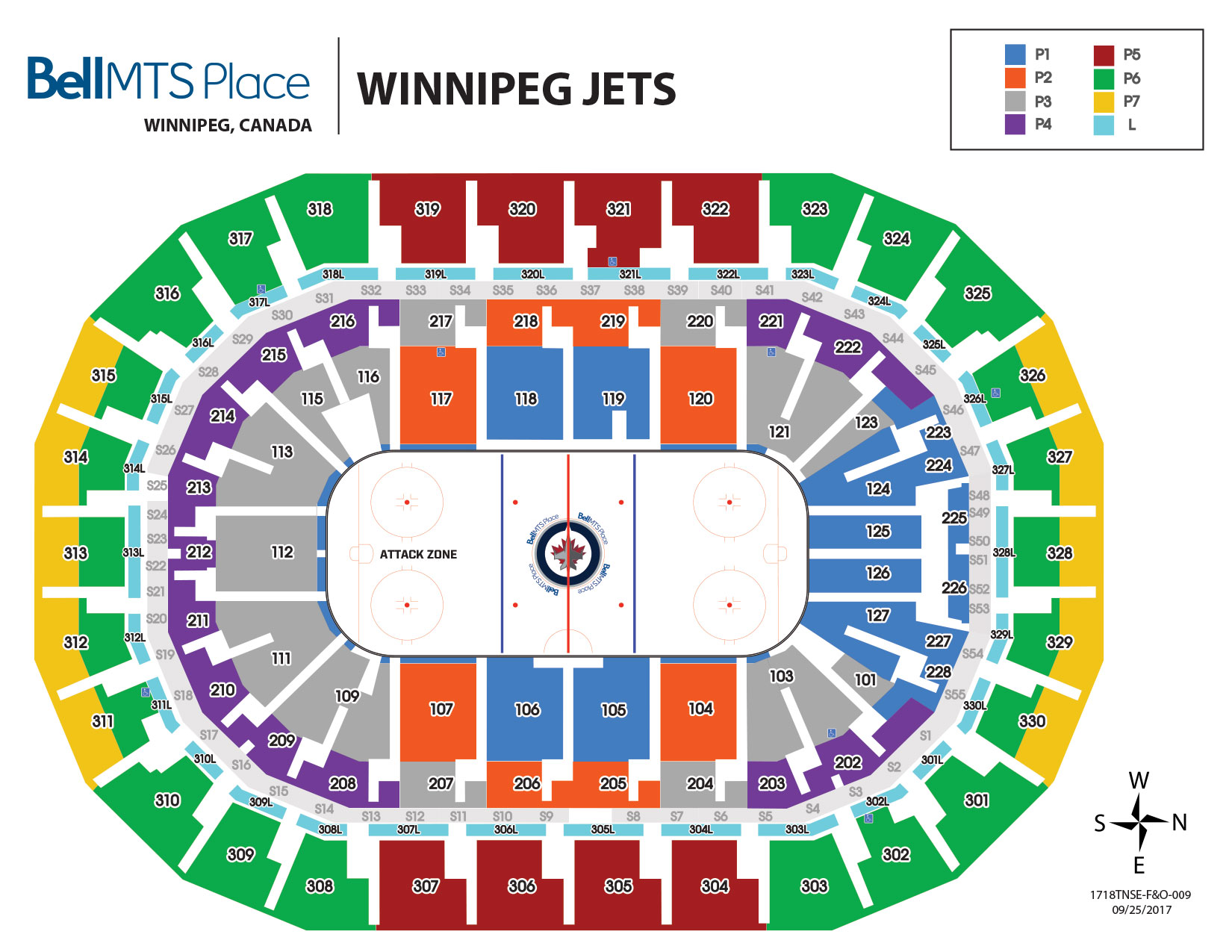Bell MTS Place - Winnipeg Jets Seating
