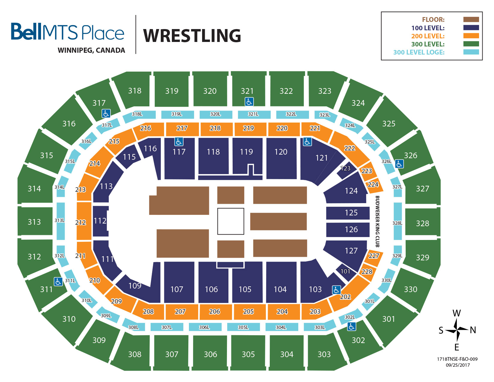 Bell MTS Place - Wrestling Seating